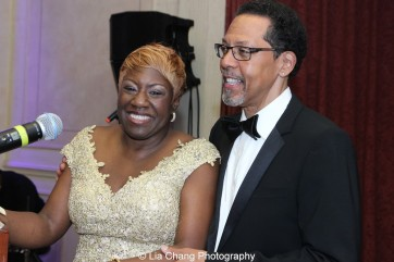 Elder Joan M. Williams, Executive Director of Beth-Hark Christian Counseling Center, Inc., and Peter Jay Fernandez attend the 30th anniversary benefit gala of Beth-Hark Christian Counseling Center, Inc. at Terrace on the Park in Flushing Meadows Park, NY on October 9, 2015. Photo by Lia Chang