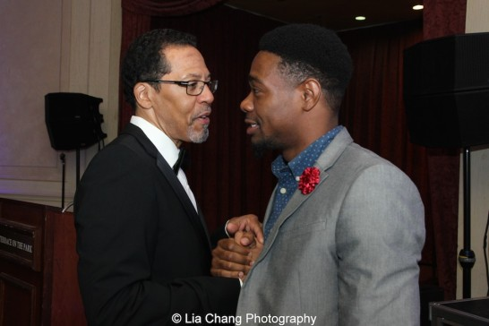 Peter Jay Fernandez and Jahzeel Campbell at the 30th anniversary benefit gala of Beth-Hark Christian Counseling Center, Inc. at Terrace on the Park in Flushing Meadows Park, NY on October 9, 2015. Photo by Lia Chang