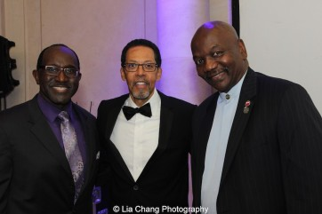 Pastor Mimsie Robinson, Peter Jay Fernandez and Deacon Melford Hazel at the 30th anniversary benefit gala of Beth-Hark Christian Counseling Center, Inc. at Terrace on the Park in Flushing Meadows Park, NY on October 9, 2015. Photo by Lia Chang