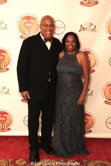 Gerald A. Fernandez and his wife Debra Jackson at the 30th anniversary benefit gala of Beth-Hark Christian Counseling Center, Inc. at Terrace on the Park in Flushing Meadows Park, NY on October 9, 2015. Photo by Lia Chang