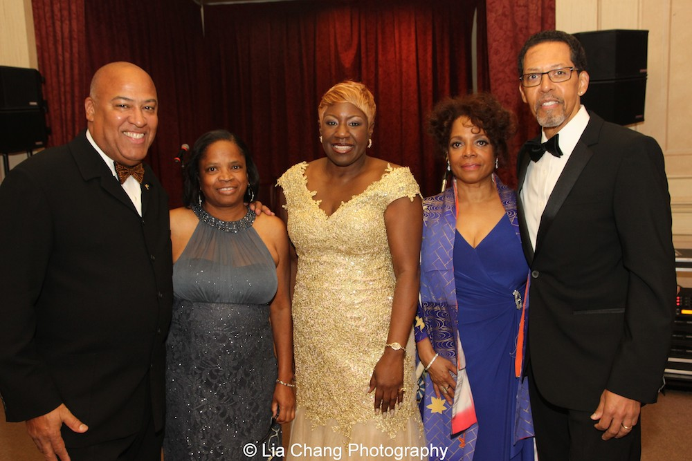 Gerald A. Fernandez and his wife Debra Jackson, Elder Joan M. Williams, Executive Director of Beth-Hark Christian Counseling Center, Inc., Denise Burse Fernandez and her husband Peter Jay Fernandez at the 30th anniversary benefit gala of Beth-Hark Christian Counseling Center, Inc. at Terrace on the Park in Flushing Meadows Park, NY on October 9, 2015. Photo by Lia Chang
