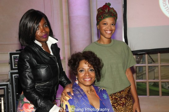 Alana Barrett-Adkins, Denise Burse Fernandez and MaameYaa Boafo attend the 30th anniversary benefit gala of Beth-Hark Christian Counseling Center, Inc. at Terrace on the Park in Flushing Meadows Park, NY on October 9, 2015. Photo by Lia Chang