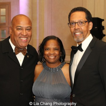 Gerald A. Fernandez and his wife Debra Jackson with brother Peter Jay Fernandez at the 30th anniversary benefit gala of Beth-Hark Christian Counseling Center, Inc. at Terrace on the Park in Flushing Meadows Park, NY on October 9, 2015. Photo by Lia Chang