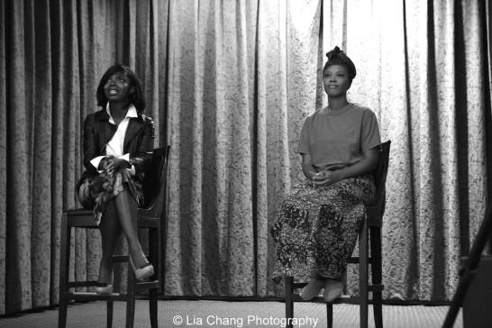 Cori Thomas' powerful play about breast cancer, Waking Up, featured MaameYaa Boafo and Alana Barrett-Adkins, helmed by Denise Burse Fernandez. Photo by Lia Chang