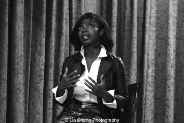 Cori Thomas' powerful play about breast cancer, Waking Up, featured MaameYaa Boafo. Photo by Lia Chang