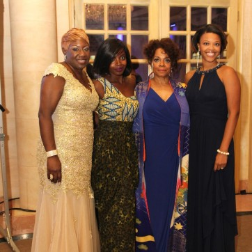Elder Joan M. Williams, Executive Director of Beth-Hark Christian Counseling Center, Inc., MaameYaa Boafo, Denise Burse Fernandez and Alana Barrett-Adkins attend the 30th anniversary benefit gala of Beth-Hark Christian Counseling Center, Inc. at Terrace on the Park in Flushing Meadows Park, NY on October 9, 2015. Photo by Lia Chang