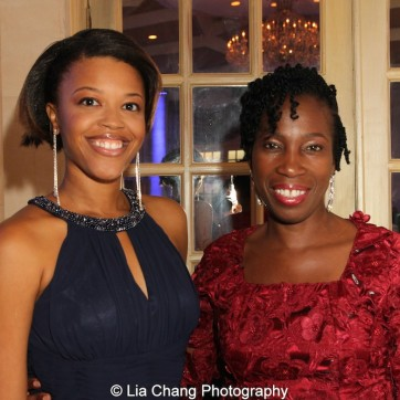Alana Barrett-Adkins and her mother Carmele Moore attend the 30th anniversary benefit gala of Beth-Hark Christian Counseling Center, Inc. at Terrace on the Park in Flushing Meadows Park, NY on October 9, 2015. Photo by Lia Chang