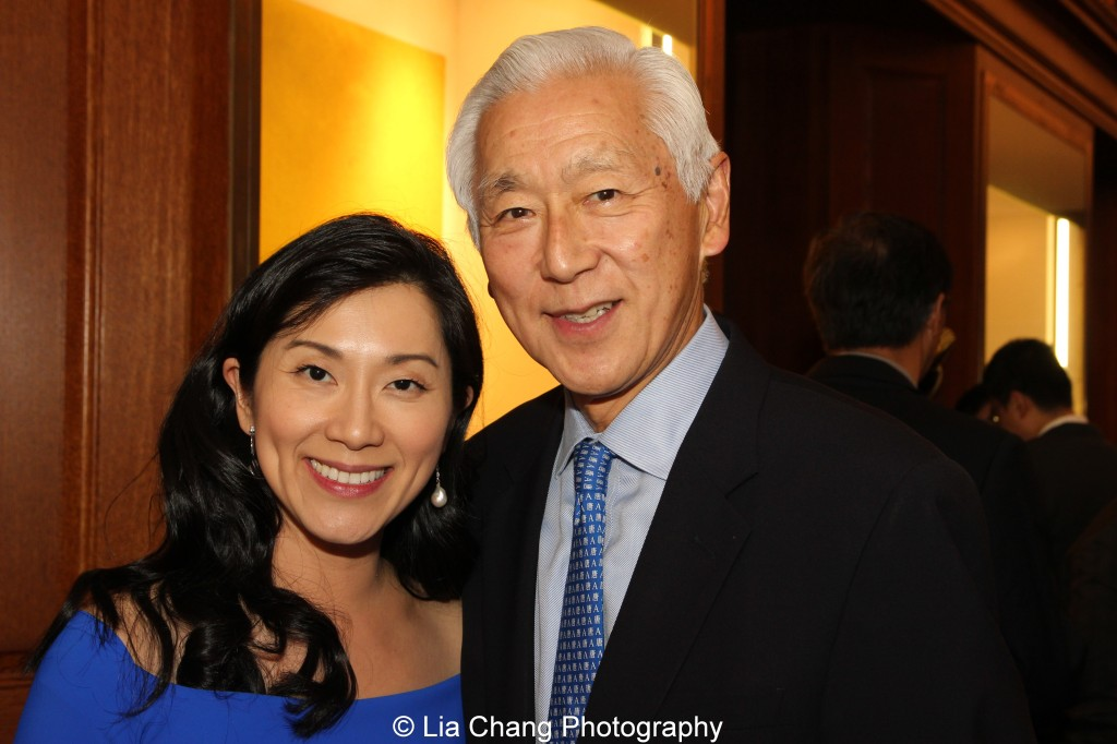Dr. Agnes Hsu-Tang and her husband Oscar L. Tang attend the inaugural reception for The Tang Center for Early China in the Low Library at Columbia University on October 2, 2015. Photo by Lia Chang