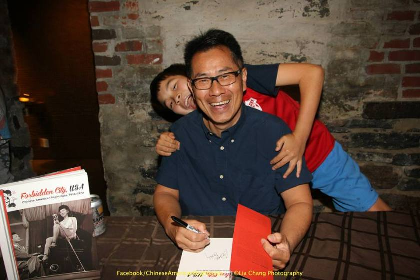 Arthur Dong and his son Reed Dong-Gee at MoCA in New York on July 25, 2015. Photo by Lia Chang