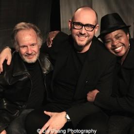Bryan Hickey, James Phillip Gates and Richarda Abrams. Photo by Lia Chang