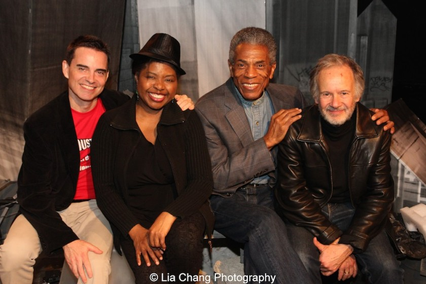 Dan McCormick, Richarda Abrams, André De Shields and Bryan Hickey. Photo by Lia Chang