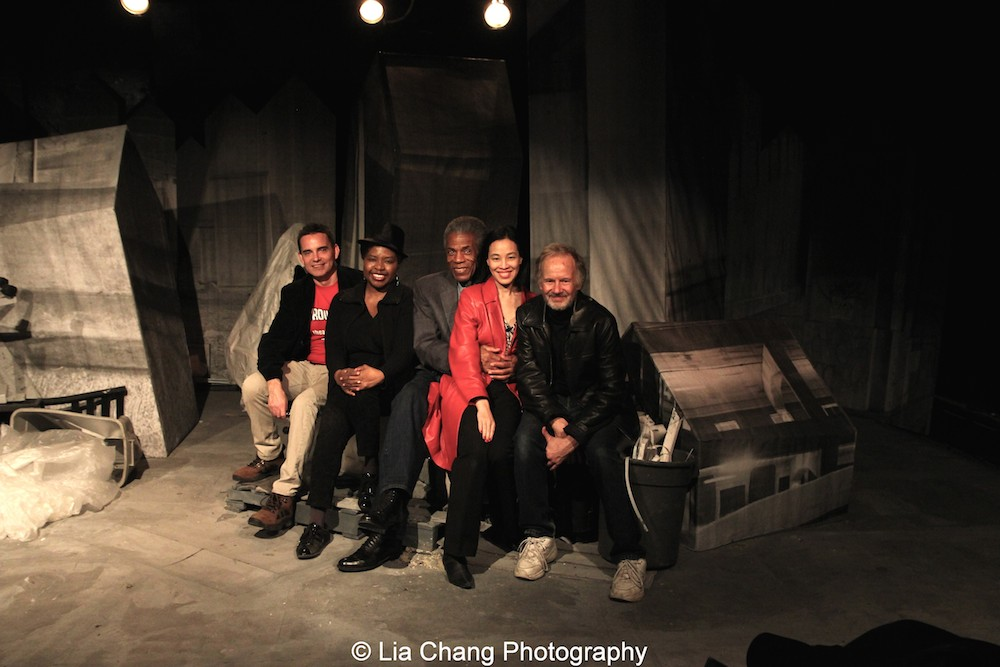 Dan McCormick, Richarda Abrams, André De Shields, Lia Chang and Bryan Hickey.