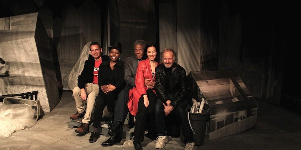 Dan McCormick, Richarda Abrams, André De Shields, Lia Chang and Bryan Hickey.