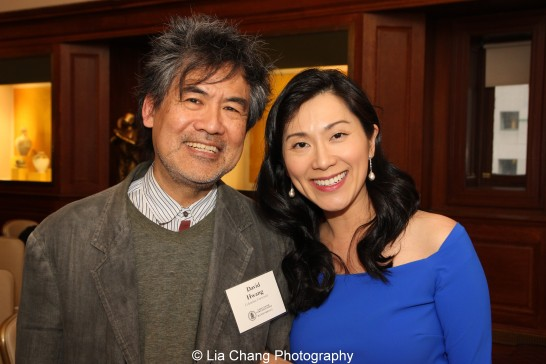 David Henry Hwang and Dr. Agnes Hsu-Tang attend the inaugural reception for The Tang Center for Early China in the Low Library at Columbia University on October 2, 2015. Photo by Lia Chang