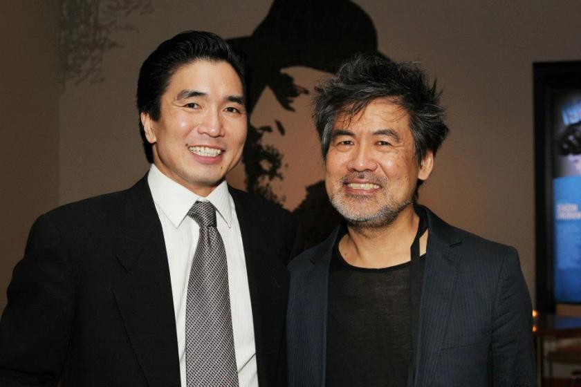 Greg Watanabe and David Henry Hwang at the opening night party for Signature Theatre Company's revival of Golden Child at The Pershing Square Signature Center on November 13, 2012. Photo by Lia Chang