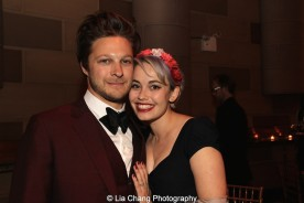 Jemima Williams and her fiancé Benjamin Scheuer attend the Dramatists Guild Fund's Gala: 'Great Writers Thank Their Lucky Stars' at Gotham Hall on October 26, 2015 in New York City. Photo by Lia Chang