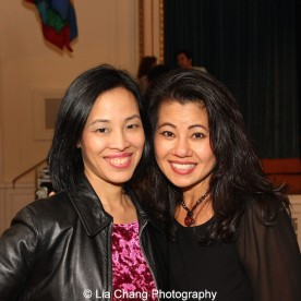 """Screening of """"The Killing Fields of Dr. Haing S. Ngor,"""" International House, October 22, 2015, New York. Lia Chang and Sophia Ngor, Dr. Ngor's niece and film subject. Photo by Garth Kravits"""