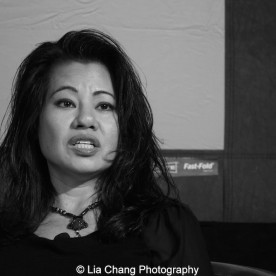 """Screening of """"The Killing Fields of Dr. Haing S. Ngor,"""" International House, October 22, 2015, New York. Sophia Ngor, Dr. Ngor's niece and film subject. Photo by Lia Chang"""
