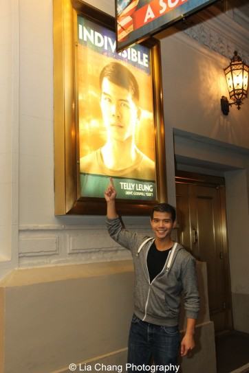 Telly Leung at the Longacre Theatre in New York after the first preview of ALLEGIANCE on October 6, 2015. Photo by Lia Chang