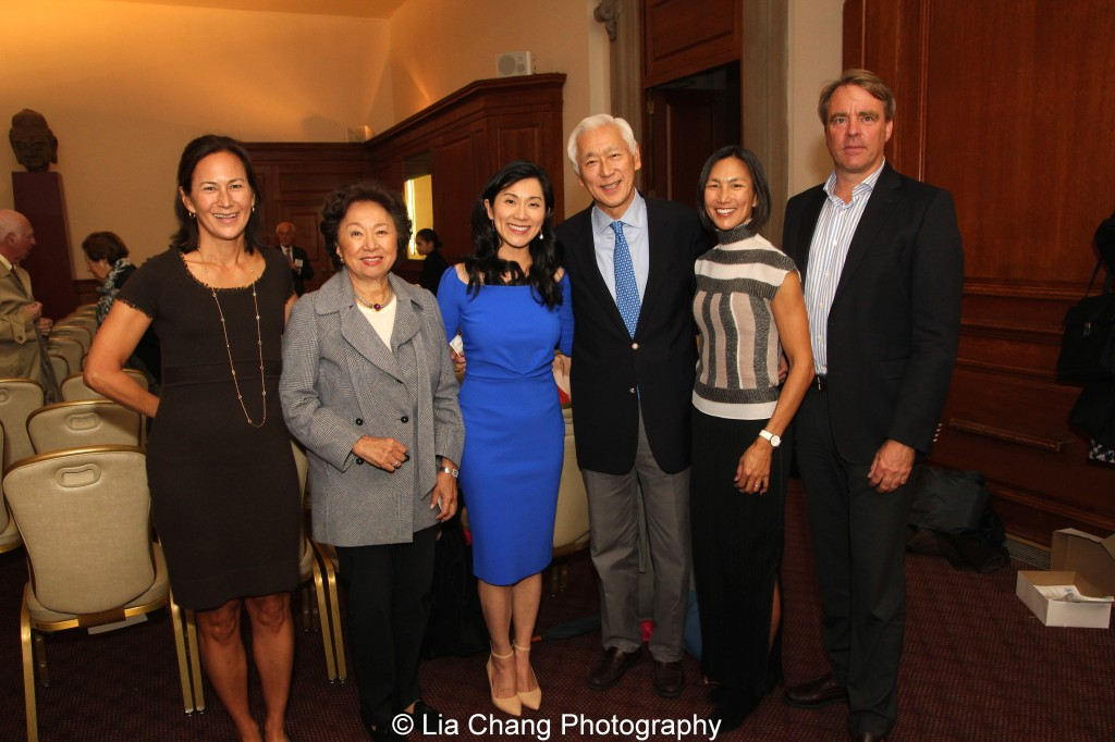 Tracy Tang-Limpe, Shirley Young, Agnes Hsu-Tang, Oscar Tang, Dana Tang and Andy Darrell attend the inaugural reception for The Tang Center for Early China in the Low Library at Columbia University on October 2, 2015. Photo by Lia Chang