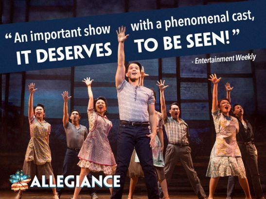 Telly Leung and the cast of ALLEGIANCE. Photo by Matthew Murphy