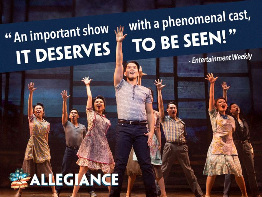 The cast of ALLEGIANCE.