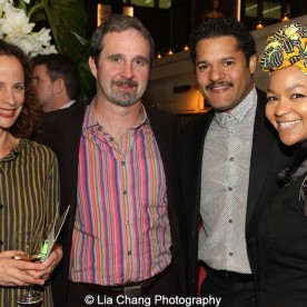A guest, John Dias, Brandon J. Dirden and Crystal Dickinson attend the 2015 Steinberg Playwright Awards on November 16, 2015 in New York City. Photo by Lia Chang