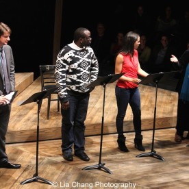 Austin Durant, Will Rogers, Bryan Tyree Henry, Carra Patterson and Michele Shay perform at the 2015 Steinberg Playwright Awards on November 16, 2015 in New York City. Photo by Lia Chang