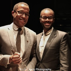 2015 Steinberg Award winner Branden Jacobs-Jenkins and Cheo Bourne attend the 2015 Steinberg Playwright Awards on November 16, 2015 in New York City. Photo by Lia Chang