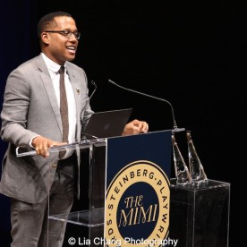 2015 Steinberg Award winner Branden Jacobs-Jenkins attends the 2015 Steinberg Playwright Awards on November 16, 2015 in New York City. Photo by Lia Chang