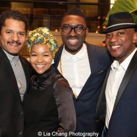 Brandon J. Dirden, Crystal Dickinson, Kwame Kwei-Armah attend the 2015 Steinberg Playwright Awards on November 16, 2015 in New York City. Photo by Lia Chang