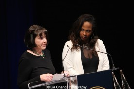 Carole Krumland and Kamilah Forbes speak at the 2015 Steinberg Playwright Awards on November 16, 2015 in New York City. Photo by Lia Chang