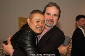 Victory Gardens' Chay Yew and Two River Theater's John Dias attend the 2015 Steinberg Playwright Awards on November 16, 2015 in New York City. Photo by Lia Chang