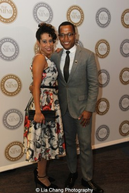 2015 Steinberg Playwright Award winners Dominique Morisseau and Branden Jacobs-Jenkins attend the 2015 Steinberg Playwright Awards on November 16, 2015 in New York City. Photo by Lia Chang