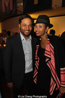 Jason Dirden and Libya V. Pugh attend the 2015 Steinberg Playwright Awards on November 16, 2015 in New York City. Photo by Lia Chang
