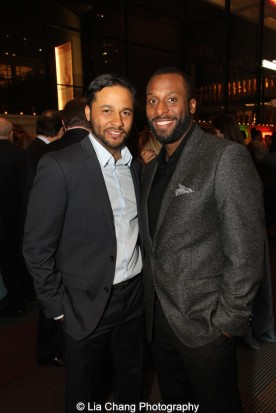 Jason Dirden and Wendell Franklin attend the 2015 Steinberg Playwright Awards on November 16, 2015 in New York City. Photo by Lia Chang