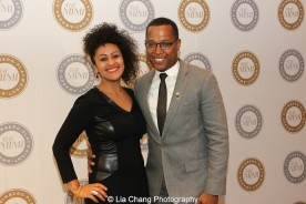 Lileana Blain - Cruz and 2015 Steinberg Award winner Branden Jacobs-Jenkins attend the 2015 Steinberg Playwright Awards on November 16, 2015 in New York City. Photo by Lia Chang