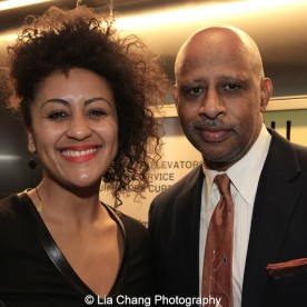 Lileana Blain - Cruz and Ruben Santiago-Hudson attend the 2015 Steinberg Playwright Awards on November 16, 2015 in New York City. Photo by Lia Chang