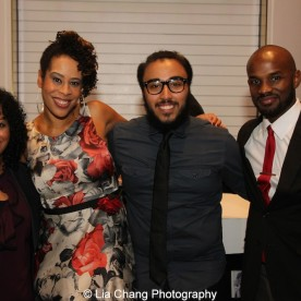 Liza Colon-Zayas, 2015 Steinberg Playwright Award winner Dominique Morisseau, William Rivera and Billy Keys attend the 2015 Steinberg Playwright Awards on November 16, 2015 in New York City. Photo by Lia Chang