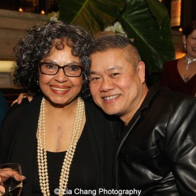 Lynda Gravatt and Chay Yew attend the 2015 Steinberg Playwright Awards on November 16, 2015 in New York City. Photo by Lia Chang