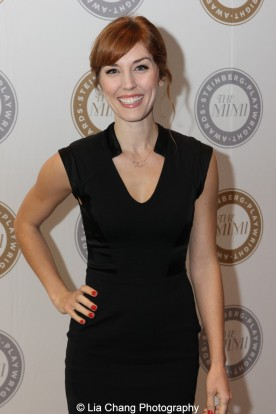 Mara Davi attends the 2015 Steinberg Playwright Awards on November 16, 2015 in New York City. Photo by Lia Chang