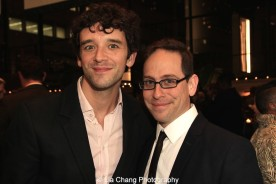 Michael Urie and Garth Kravits attend the 2015 Steinberg Playwright Awards on November 16, 2015 in New York City. Photo by Lia Chang