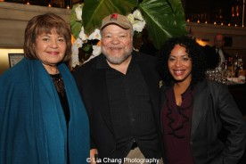 Michele Shay, Stephen McKinley Henderson and Liza Colon-Zayas attend the 2015 Steinberg Playwright Awards on November 16, 2015 in New York City. Photo by Lia Chang