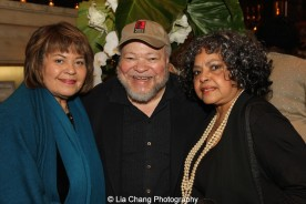 Michele Shay, Stephen McKinley Henderson and Lynda Gravatt attend the 2015 Steinberg Playwright Awards on November 16, 2015 in New York City. Photo by Lia Chang