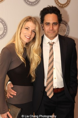 Morgan Weed and 2013 Steinberg Playwright Award winner Rajiv Joseph attend the 2015 Steinberg Playwright Awards on November 16, 2015 in New York City. Photo by Lia Chang
