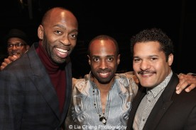 Steve Broadnax, Nsagou Njikam and Brandon J. Dirden attend the 2015 Steinberg Playwright Awards on November 16, 2015 in New York City. Photo by Lia Chang