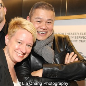 Wendy Goldberg, Artistic Director of National Playwrights Conference, Eugene O'Neill Theater Center and Victory Gardens' Chay Yew attend the 2015 Steinberg Playwright Awards on November 16, 2015 in New York City. Photo by Lia Chang