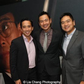 Brothers Bob de la Fuente, Joel de la Fuente and Benjamin de la Fuente attend the episode screening and premiere for the Amazon Originals Series 'The Man in the High Castle' at Alice Tully Hall on November 2, 2015. Photo by Lia Chang