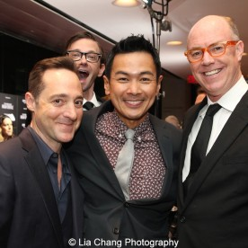 Brennan Brown, D.J. Qualls, Joel de la Fuente, Michael Gaston attend the episode screening and premiere for the Amazon Originals Series 'The Man in the High Castle' at Alice Tully Hall on November 2, 2015. Photo by Lia Chang