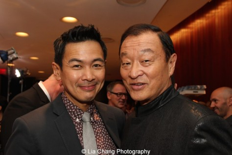 Joel de la Fuente and Cary-Hiroyuki Tagawa attend the episode screening and premiere for the Amazon Originals Series 'The Man in the High Castle' at Alice Tully Hall on November 2, 2015. Photo by Lia Chang